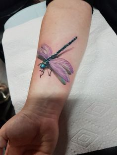 Dragonfly 3d tattoo