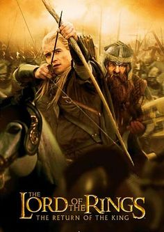 Legolas and Gimli! One of my favorite Lord of the Rings posters