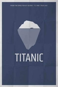 titanic 70 Powerful Examples of Minimal Movie Poster Designs