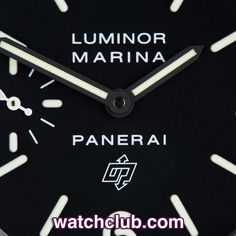 """Panerai Luminor Marina """"44mm Logo Dial"""" REF: PAM 00005   Year Jan 2012   44mm stainless steel Luminor Marina Logo with black luminous dial. UK retailed in Jan 2012 and covered by Panerai International Warranty till 2014, this 'N' series PAM 00005 has been made in only 1500 examples. Featuring a hand wound calibre OP II movement with a 56hr power-reserve, and water-resistant to an impressive 300m - for sale at Watch Club, 28 Old Bond Street, Mayfair, London"""