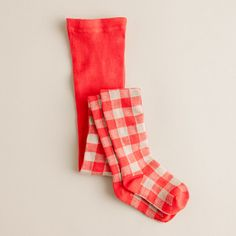Girls' gingham tights - J.Crew I know these are for kids, but that doesn't mean I don't want them.  In my size of course.