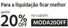 Cupom de 20% de Desconto na Loja de Moda do Submarino