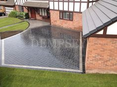 Natural limestone driveway with granite inlay Mossley Hill, Liverpool