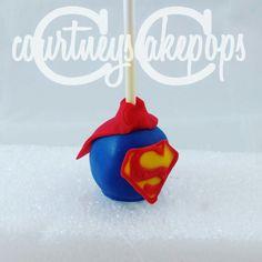 Superman Cakepops   Courtney's Cakepops