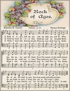 Rock of Ages Gospel Hymns is creating Hymnal Sheet Music Gospel Song Lyrics, Christian Song Lyrics, Gospel Music, Christian Music, Music Lyrics, Music Songs, Piano Music, Hymns Of Praise, Praise Songs