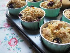blueberry crumble and almond muffins | By Jaymie | Bloglovin'