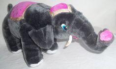 Classic Toy Co Elephant Grey Pink Gold Plush Stuffed Animal Dumbo Mom Fancy | eBay