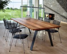 contemporary table and chairs dining table chairs modern contemporary table set. Glass Top Dining Table, Trestle Dining Tables, Dining Table Legs, Dining Table Design, Extendable Dining Table, Wooden Tables, Table And Chairs, Walnut Dining Table, Round Dining