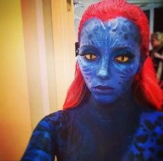 Blue skin humanoid alien