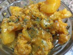 Kumkum's Food: Aaloo Gobhi Masala Sabzi - Spicy Potato Cauliflowe...