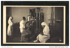 """CPA Neufmoutiers-en-Brie, Sanatorium de """"Aide et Protection"""", Salle de Radiologie, Röntgenzimmer."""