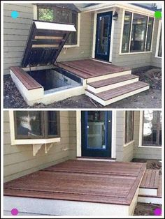 LuciGold will match your existing structure to hide access to your cellar under your patio, p. : LuciGold will match your existing structure to hide access to your cellar under your patio, porch or deck. Learn More: (… , Shelter Architecture, Architecture Design, Backyard Patio, Backyard Landscaping, Backyard Ideas, Patio Ideas, Backyard Privacy, Wood Patio, Pavers Ideas