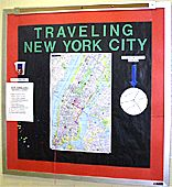 Middle school measurement interactive bulletin board. Traveling New York City. Used 5/19/12 for EDU 6630 K-6 Math.