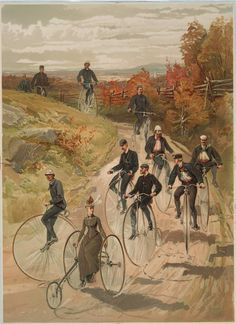 Bicycling. NYPL Print Collection.