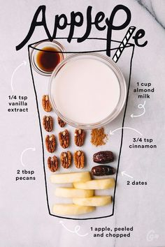 14. Apple Pie #greatist http://greatist.com/eat/simple-smoothie-recipes