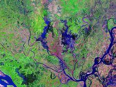 Satellite Image Dhaka (Dacca), Bangladesh, Ninth Largest United Nations Urban Agglomeration on the Planet, 2011