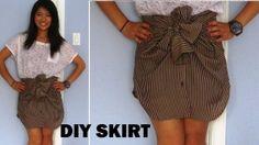 how to, DIY, Shirt to Skirt