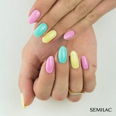 Here you can see some interesting colorful nail designs, you can try ❤ That is why we have gathered these multi colored nails ideas ❤ See more at LadyLife ❤ Short Nail Designs, Colorful Nail Designs, Beauty Nails, Beauty Makeup, Nagel Gel, Short Nails, Nail Artist, Summer Nails, Pedicure