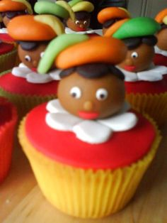 Zwarte piet cupcakes