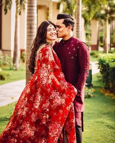 We're Heart-eyes for this Bride who Bloomed in a Raspberry Red Floral Lehenga Indian Wedding Couple Photography, Bridal Photography, Floral Lehenga, Lehenga Choli, Indian Bridal Outfits, Bridal Dresses, Sabyasachi Bride, Bridal Photoshoot, Wedding Poses