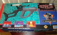 Sega Menacer Gun for Sega Genesis BOXED Great Condition and Rare