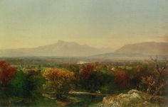 October Day In The White Mountains  by John Frederick Kensett (1816 – 1872)