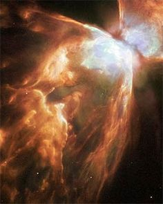 A Dying Star Shrouded by a Blanket of Hailstones Forms the Bug Nebula (NGC 6302)