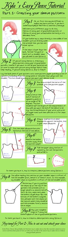 Easy Sleeve Tutorial by ScreamingInTheWoods.deviantart.com on @deviantART