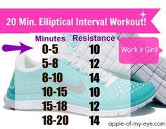 20 Minute Elliptical Interval Workout
