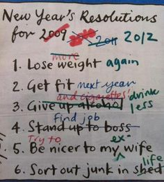 Funny New Year Resolutions Joke Picture
