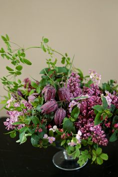 lilac, akebia and fritillaria. Clare Day Flowers | claredayflowers.ca