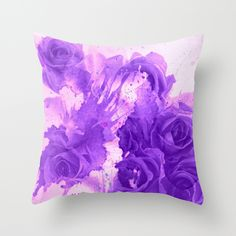 where are the roses gone... Throw Pillow #purple,#pink,#roses