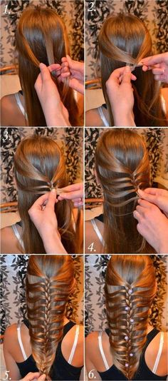Why are you not around to do this to my hair shmoogits? Stylish Braided Hair Tutorial Source by French Braid Hairstyles, Braided Hairstyles, Cool Hairstyles, Mermaid Hairstyles, Hairstyles Videos, Updo Hairstyle, Headband Hairstyles, Vintage Hairstyles, Wedding Hairstyles