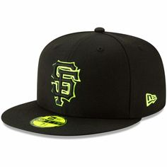 cheap for discount 41920 4cc2f Men s San Francisco Giants New Era Black Yellow Outline Neon Pop 59FIFTY  Fitted Hat,  34.99
