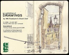 An example of how to use a moleskine sketchbook - for text and travel sketches