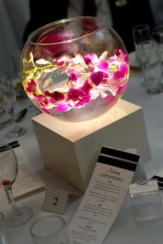 Centrepiece Idea - with blue orchids instead