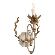 Aidan Gray Lighting Cumiers Wreath Wall Sconce Set of 2 @LaylaGrayce