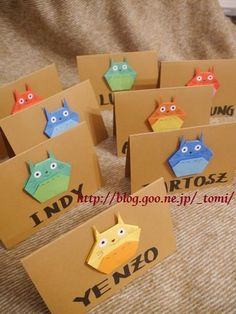 Totoro Origami Cards