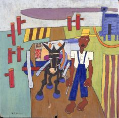Off to Market- William H. Johnson - WikiPaintings.org