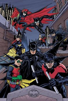 awesomecomicthings:  The Bat Family by Craig Cermak