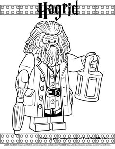Lego Coloring Activities Best Of Coloring Hagrid Harry Potter Colors, Harry Potter Games, Harry Potter Printables, Theme Harry Potter, Harry Potter Halloween, Harry Potter Birthday, Harry Potter Characters, Lego Coloring Pages, Disney Coloring Pages
