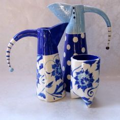 blue delft ceramic utensil holder