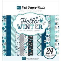 Echo Park HELLO WINTER 6 x 6 Paper Pad HW95023* Preview Image