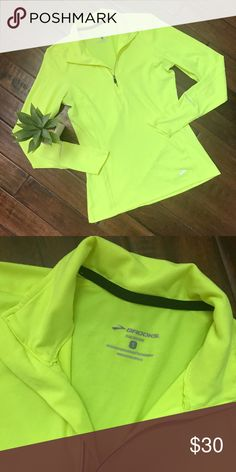 BROOKS JOGGING SHIRT Brooks jogging shirt with equilibrium technology in neon green. Great condition! Brooks Tops