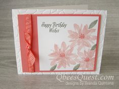 Qbee's Quest: Avant Garden Triple Flower Cards