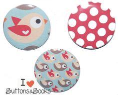 Kühlschrankmagnete+Set+Vogel+3+Stück+Vögel+groß+von+Buttons&Books+auf+DaWanda.com