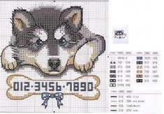 Husky #huskybebe Counted Cross Stitch Patterns, Cross Stitch Charts, Cross Stitch Designs, Husky Cross, Graph Design, Cross Stitch Animals, Plastic Canvas Crafts, Canvas Patterns, Animal Drawings