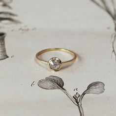 Rose cut diamond ring Rust Jewellery