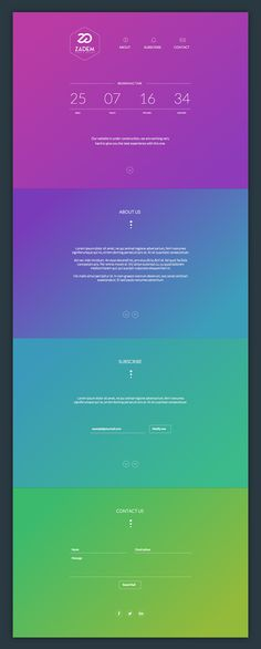 Coming Soon Web Template on Behance