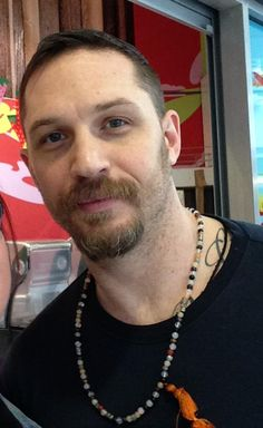 THAS-Tom Hardy Argentina Station • Tom with a fan today, in Kingston. You can't look...